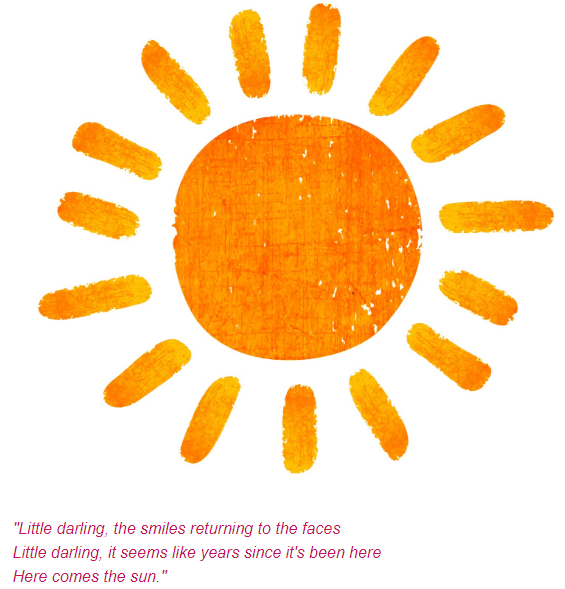 Sun with poem