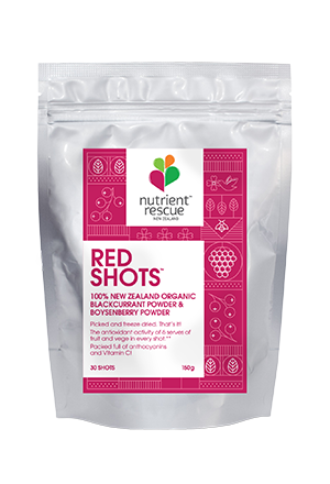 Red shots - organic blackcurrant and boysenberry