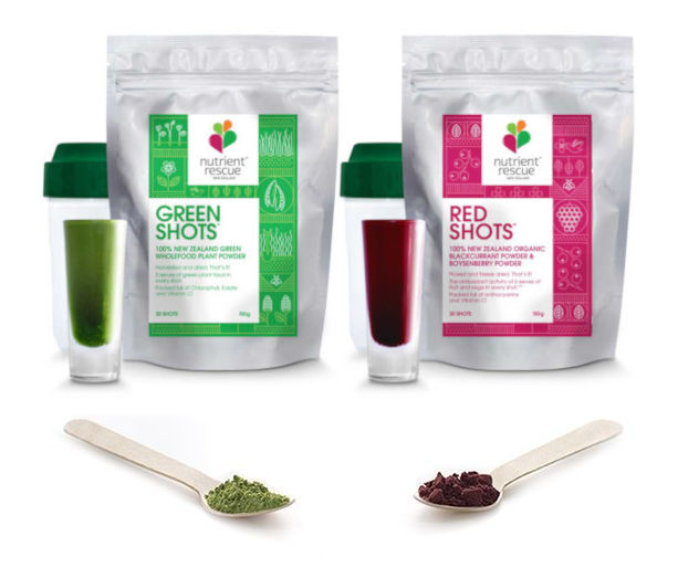 Get 4 serves of veges and fruit for $2 with our powdered shots