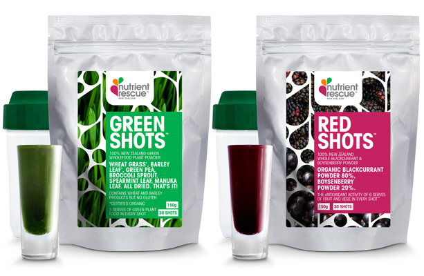 Fruit and vege powdered shots